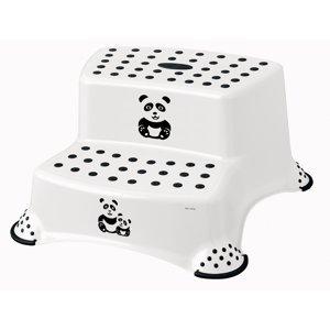 Keeper Dvojstupínek k WC/umyvadlu Panda bílá