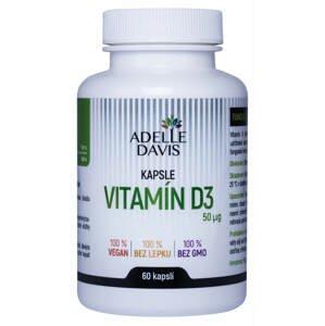 Adelle Davis Vitamín D3 60 kapslí