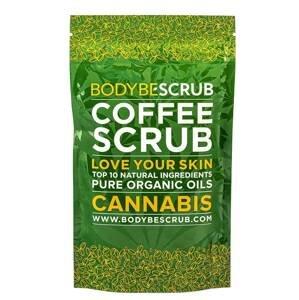 Bodybe Přírodní kávový peeling Cannabis 100g