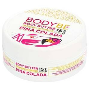 Bodybe Opalovací máslo s třpytivým efektem, SPF15 Piña Colada 150ml