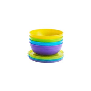 Munchkin - Set barevných misek s víčky a lžičkami 10ks