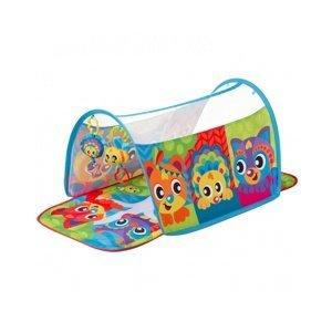 Playgro - Hrací deka s tunelem Zvířátka