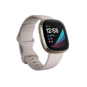 Fitbit Sense Chytré hodinky Lunar White/Soft Gold Stainless Steel