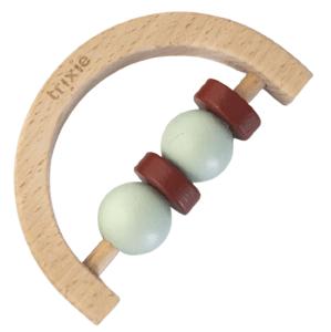 Trixie Chrastítko dřevěné půlkruh Mint Rust