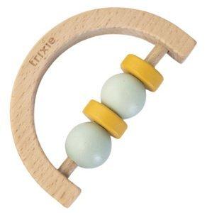 Trixie Chrastítko dřevěné půlkruh Mint Yellow