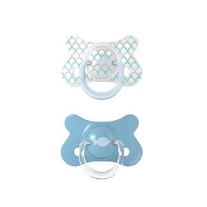 Suavinex Fusion Forest dudlík fyziologický silikon modrá 4-18m 2ks
