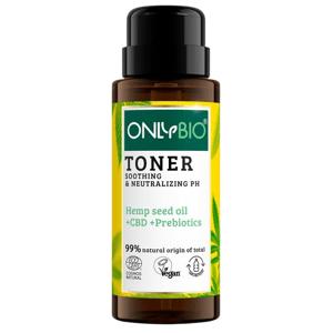 OnlyBio Zklidňující tonikum pro citlivou pleť, s konopím a CBD olejem 300ml