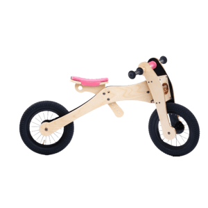 Trybike Dřevěné odrážedlo/tříkolka ružová 4v1