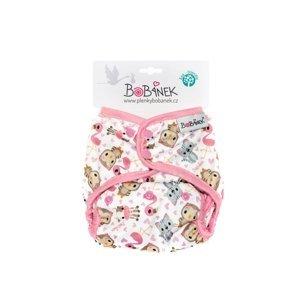 Bobánek Svrchní kalhotky patentky Růžová zvířátka