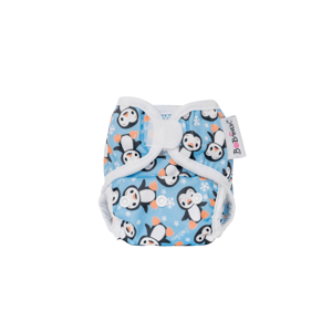 Bobánek Novorozenecké svrchní kalhotky suchý zip Tučňáci