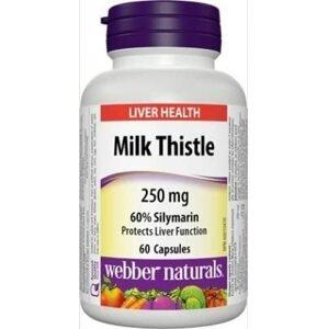 Webber Naturals Milk Thistle (Ostropestřec Mariánský) 250mg 60 kapslí