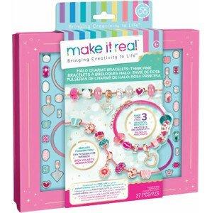 Make it Real Sada pro výrobu náramků - růžová