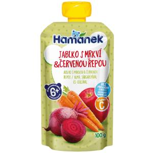 Hamánek Kapsička Jablko s mrkví a červenou řepou 100g
