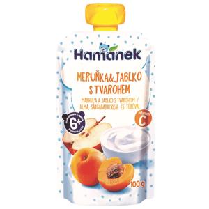 Hamánek Kapsička Meruňka a jablko s tvarohem 100g
