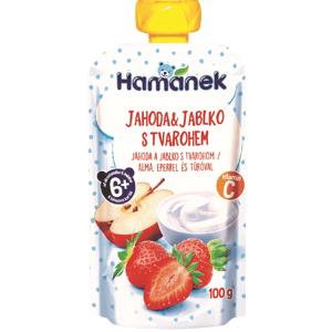 Hamánek Kapsička Jahoda a jablko s tvarohem 100g