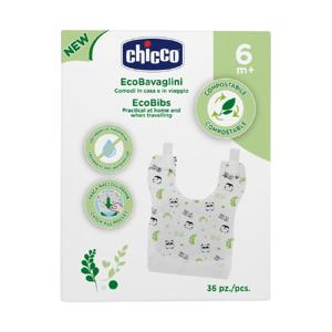 Chicco Jednorázové kompostovatelné bryndáčky 36ks