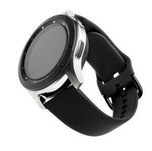 FIXED Silikonový řemínek Silicone Strap s šířkou 20mm pro smartwatch, černý 1ks