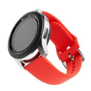 FIXED Silikonový řemínek Silicone Strap s šířkou 20mm pro smartwatch, červený 1ks
