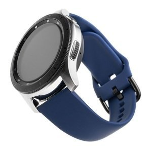 FIXED Silikonový řemínek Silicone Strap s šířkou 20mm pro smartwatch, modrý