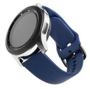 FIXED Silikonový řemínek Silicone Strap s šířkou 22mm pro smartwatch, modrý 1ks