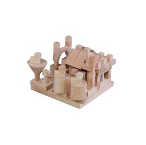 Detoa Stavebnice Malý Architekt kostky dřevo 120ks