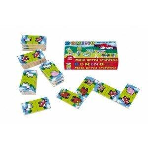 Teddies Domino Moje první zvířátka dřevo společenská hra 28ks