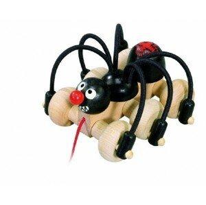 Detoa Černý pavouk tahací, dřevo 11cm