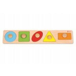 Teddies Vkládačka dřevo geometrické tvary pro nejmenší 5ks