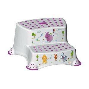 Keeper Dvojstupínek k WC/umyvadlu Hippo bílá
