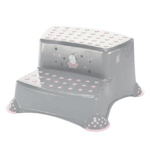 """ZOPA  Dvojstupínek k WC/umyvadlu """"Unicorn"""", Grey/Pink 1ks"""
