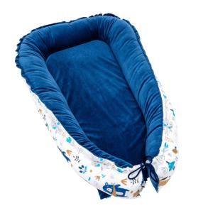 T-Tomi Hnízdečko pro miminko Velvet, blue bears