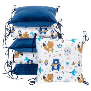 T-Tomi Polštářkový mantinel Velvet, blue bears