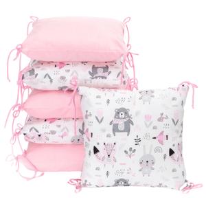T-Tomi Polštářkový mantinel Velvet, pink bears