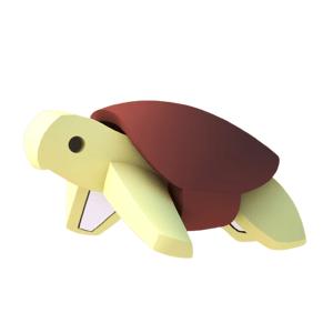 Halftoys ŽELVA magnetická skládací hračka s 3D modelem oceánu