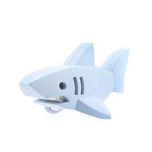 Halftoys ŽRALOK BÍLÝ magnetická skládací hračka s 3D modelem oceánu