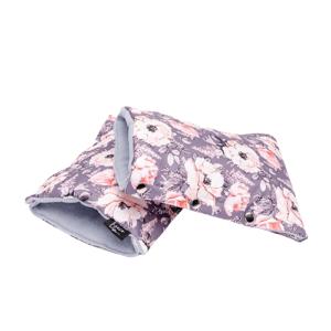 Eseco Rukavice na kočárek Grey flowers