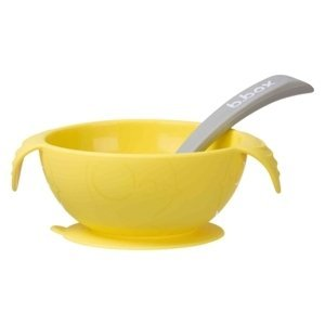B.box Silikonová miska se lžičkou - žlutá