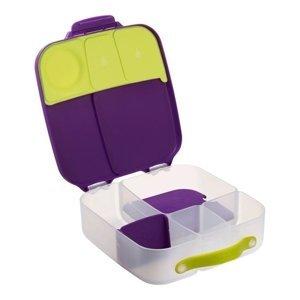 B.box Svačinový box velký - fialový/zelený