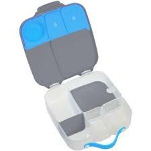 B.box Svačinový box velký - šedý/modrý
