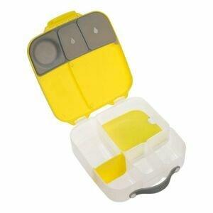 B.box Svačinový box velký - žlutý/šedý