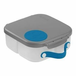B.box Svačinový box střední - šedý/modrý