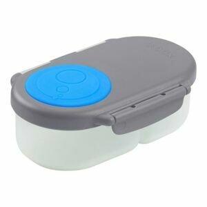B.box Svačinový box malý - šedý/modrý
