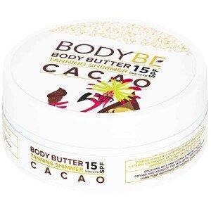 Bodybe Opalovací máslo s třpytivým efektem, SPF15 Kakao 150ml