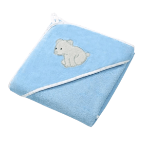 BabyOno Osuška s kapucí Velour 100x100, blue