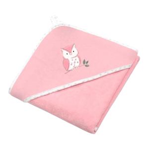 BabyOno Osuška s kapucí Velour 85x85, pink