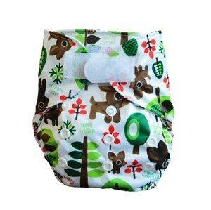GaGa's pleny Novorozenecké svrchní kalhotky Lesní na suchý zip