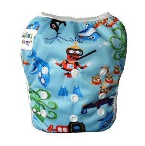 GaGa's pleny Plavky pro kojence i batolata rostoucí, Modré moře