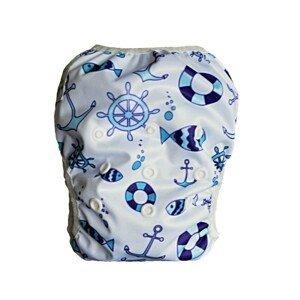 GaGa's pleny Plavky pro kojence i batolata rostoucí, Kotvy modré