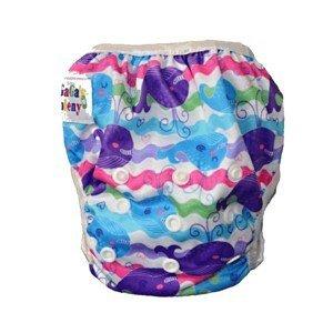 GaGa's pleny Plavky pro kojence i batolata rostoucí, Barevné velryby