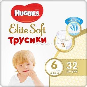 Huggies® Elite Soft Pants XXL 6 Plenkové kalhotky 15-25kg 32ks